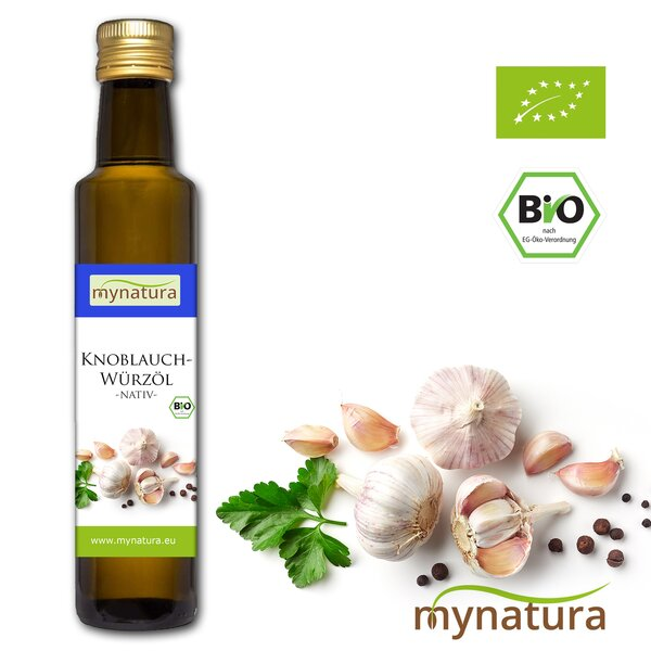 Mynatura Bio Knoblauchwürzöl Knoblauchöl Knoblauch Öl Würzen Kochen Speiseöl