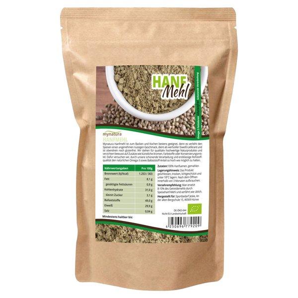 Mynatura Bio Hanfmehl auch Hanfsamen-Mehl Omega 3, Ballaststoffe