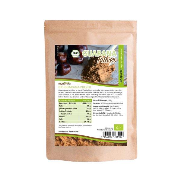 Mynatura Bio Guarana Pulver schonend verarbeitet