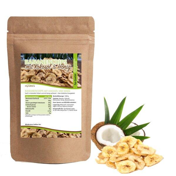 Mynatura Bananenchips mit Kokosöl und Honig - Banane Snack Trockenfrüchte