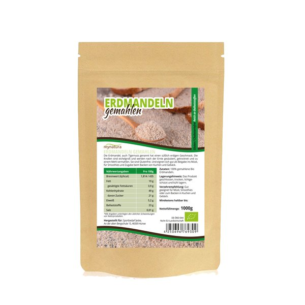 Mynatura Bio Erdmandelmehl Glutenfre Cholesterinfrei