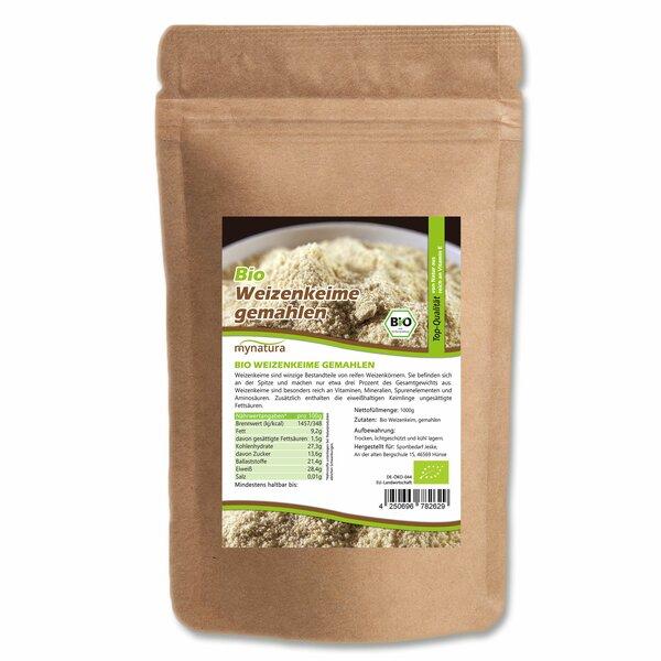 Mynatura Bio Weizenkeime stabilisiert gemahlen