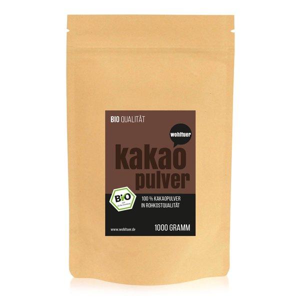 Wohltuer Bio Kakaopulver kaltgepresst 1000g