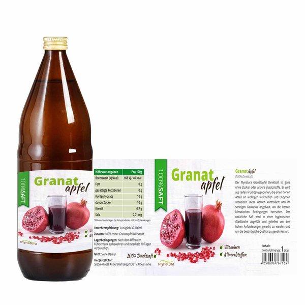 Mynatura Granatapfel Direktsaft, 100% Granatapfelsaft Vegan Muttersaft