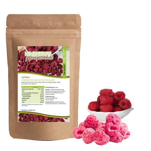 Mynatura gefriergetrocknete Himbeeren - Raspberry Obst Trockenfrüchte Snack