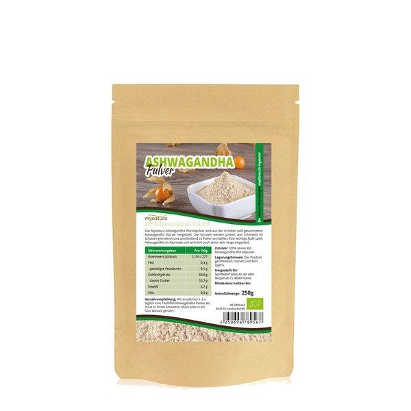 Mynatura Bio Ashwagandha Vegetarier Veganer Pulver