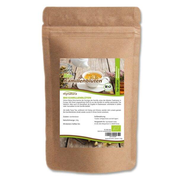 Mynatura Bio Kamillenblüten, getrocknet, ganz - Naturbelassen Kräutertee Tee Blüten