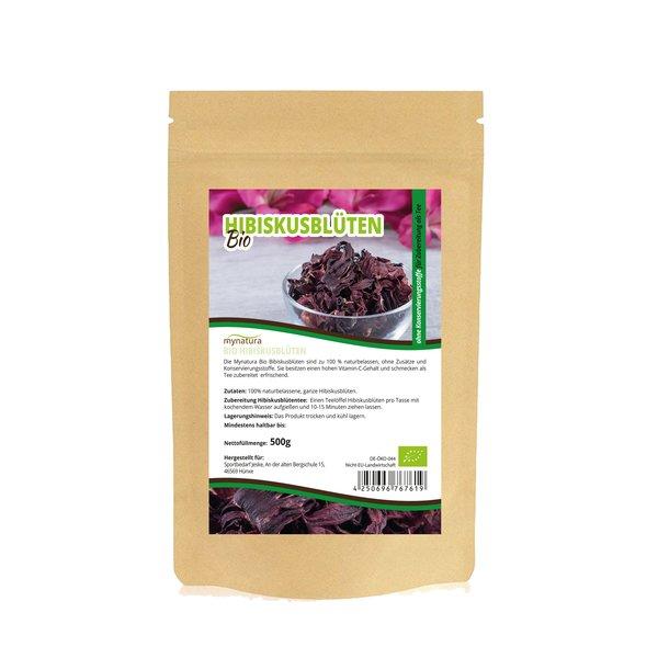 Mynatura Bio Hibiskusblüten ganz Tee Vitamin-C Gehalt