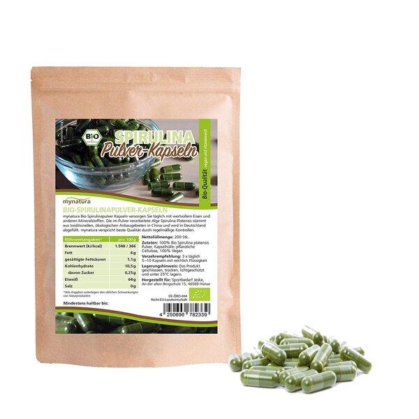 Mynatura Bio-Spirulinapulver-Kapseln