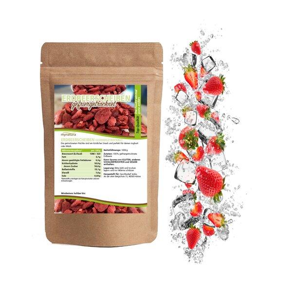 Mynatura gefriergetrocknete Erdbeerscheiben Beutel - Erdbeeren Strawberry