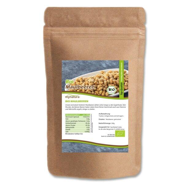 Mynatura Bio Maulbeeren Beutel Trockenfrüchte Maulbeere Vitamine Müsli