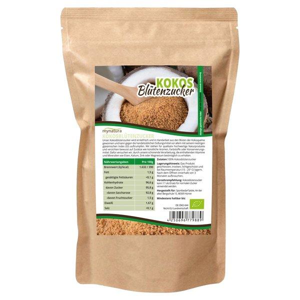 Mynatura Bio Kokosblütenzucker - natürliches Süßungsmittel Zucker Kokos Coconut