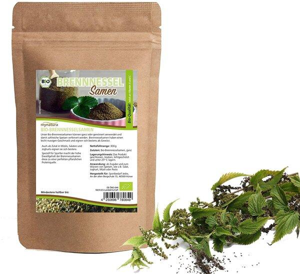 Mynatura Bio Brennnesselsamen ganz Für Tee Aufguss und Tinkturen