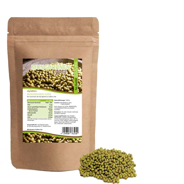 Mynatura Mungbohnen Ganz - Mungobohnen Bohnen Kochen Protein