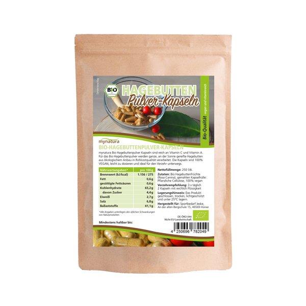 Mynatura Bio Hagebuttenpulver Kapseln Vitaminreich