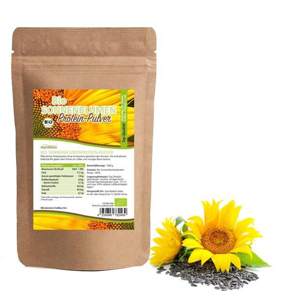 Mynatura Bio Sonnenblumen Mehl Protein Pulver Eiweiss Pulver Backen