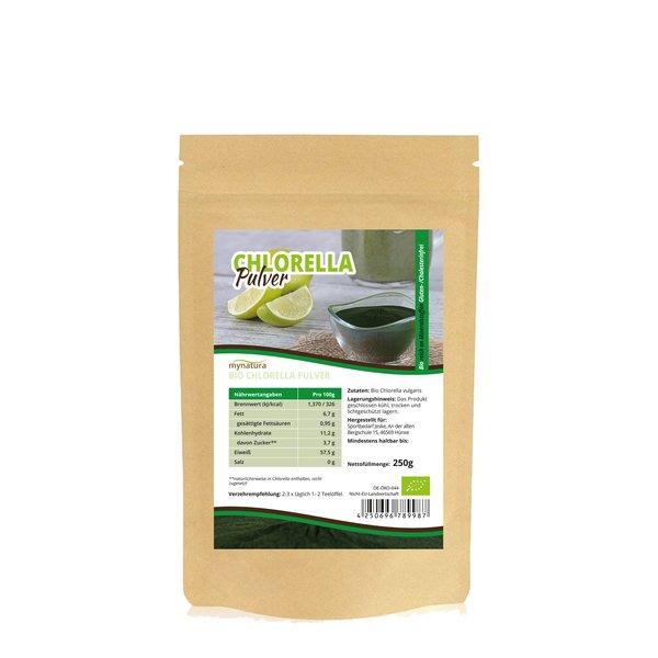Mynatura Bio Chlorella Algen in Rohkostqualität (PULVER)