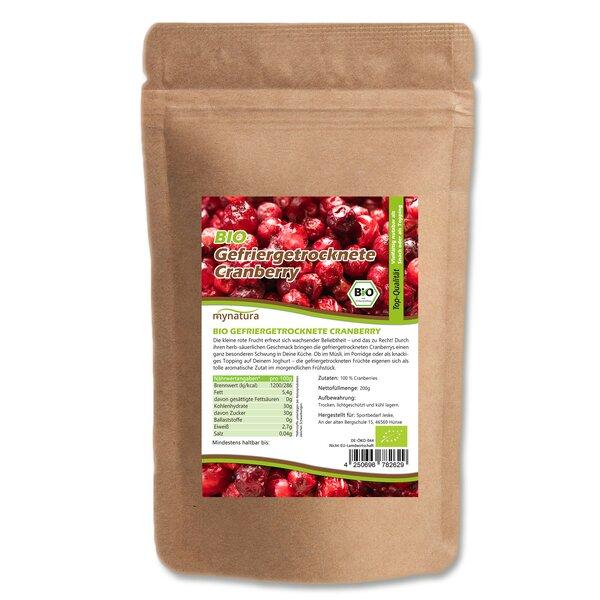 Mynatura Bio Gefriergetrocknete Cranberry 200g