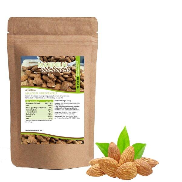Mynatura Mandeln, unbehandelt - Almond Mandel Snack Backen