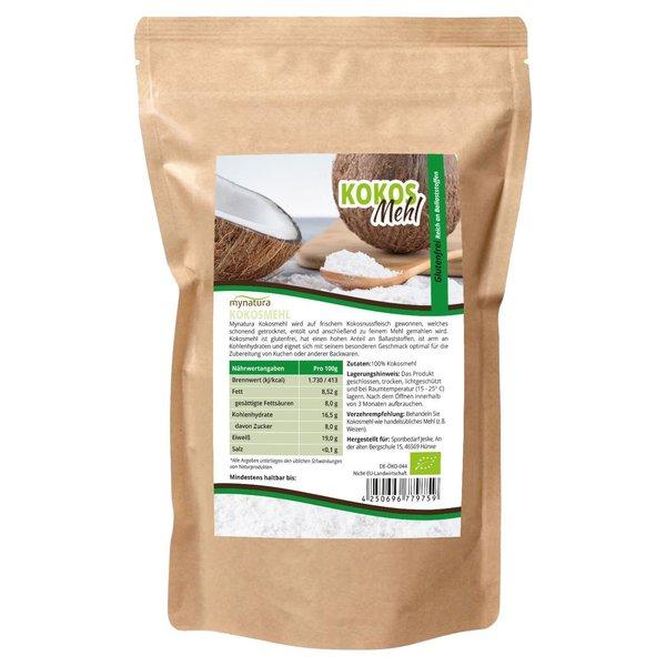 Mynatura Bio Kokosmehl ab 1000g entölt - Vegan Mehl Alternative Coconut Kokos